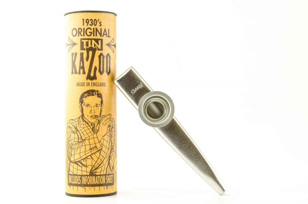 Standard Kazoo - Silver - with storage tube
