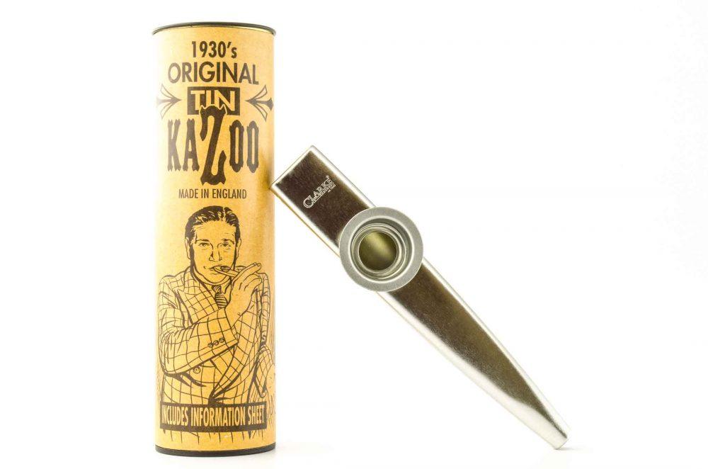 Premium XL Kazoo - Silver - with storage tube