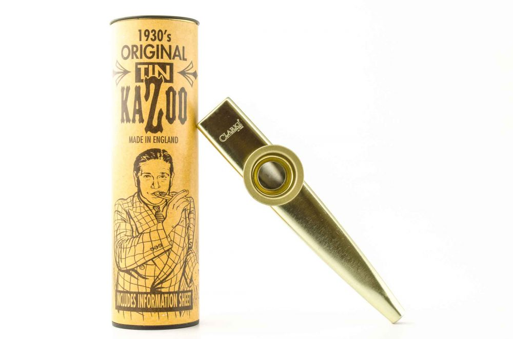 Premium XL Kazoo - Gold - with storage tube
