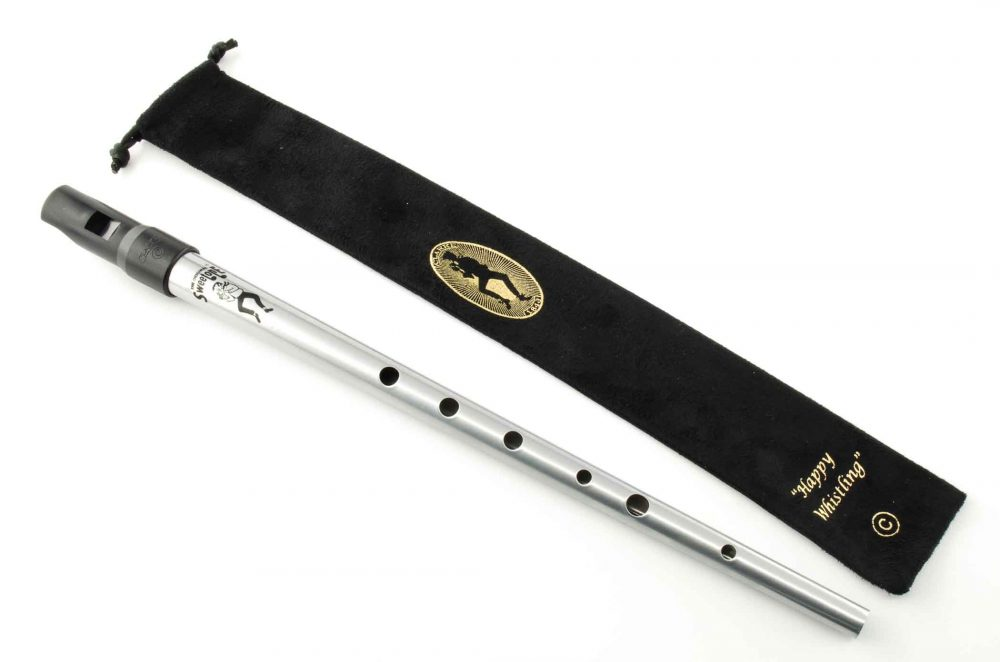 Sweetone C Tinwhistle with Pouch - Silver