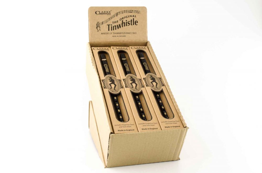 Original C Tinwhistle - Black/Gold - 15 pack